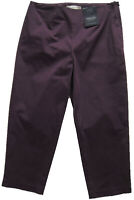 New Womens Marks & Spencer Purple Tapered Crop Trousers Size 16 Short DEFECT