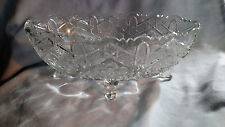 EAPG - Indiana Glass Rayed Flower Master Berry Oval Bowl