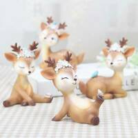 Mini Animal Sika Deer Figurines Resin Craft Miniature Bonsai Fairy Garden Decors