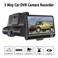 4 '' HD 1080P 3 Lens Car DVR Dash Video Recorder cámara de visión trasera 170 °