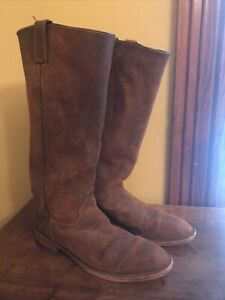 """Chippewa Gale Tall Harness 16"""" Brown Distressed Leather Riding Western Boot 9.5"""