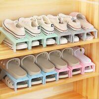 1x Easy Home Shoes Organizer Shoe Slots Space Saver Plastic Rack Storage Holder