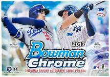2017 Bowman Chrome Baseball Factory Sealed Hta Hobby Choice Box (3 Autographs)