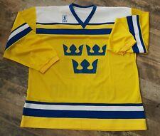 SWEDEN sverige hockey jersey TIBAS vintage 1987 #15 NASLUND  NHL