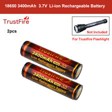 2x Trustfire 18650 3400mAh Protected 3.7V Rechargeable Batteries For Flashlight