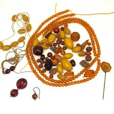 Antique Bakelite and Amber spare bead collection joblot