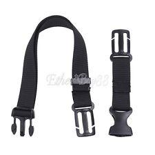 Adjustable Bag Backpack Webbing Packing Sternum Chest Harness Buckle Clip Strap