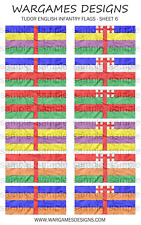 Bandiere 28 mm-FANTERIA INGLESE TUDOR-FOGLIO 6-LUCCIO & SHOTTE, Barocco, DBR
