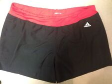 Adidas AY1564 Response 3 Stripe Running Shorts Black Ray Red L Climalite Pocket