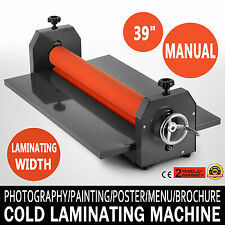 39In 1000MM Manual Cold Roll Laminator Vinyl Photo Film Laminating Machine NEW