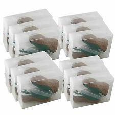 15x Cajas Almacenaje Zapatos PP368TG Apilable Plegable Organizador Transparente