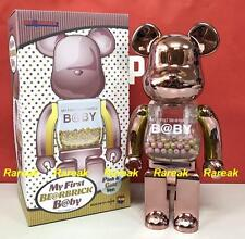 Medicom Toy Plus Be@rbrick My First Baby 400% Pink & Gold Coating Bearbrick 1pc