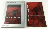 Playstation 2 PS2 VF  Red Faction  PAS DE JEU BOITE VIDE et notice  Envoi suivi