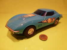 HONG KONG CHEVROLET CORVETTE - RACE CAR - BLUE - FRICTION - L23.0cm