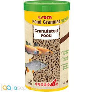 sera Pond Granulat Nature 1000mL Granulated All Natural Fish Food for Pond Fish