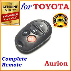 Fit Toyota Aurion complete Remote 4 Buttons - Year 2006 to 2011 - 89742-AC080