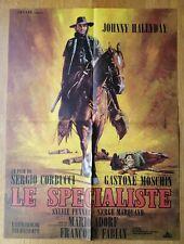 SPECIALISTE Johnny Hallyday affiche cinema originale 60x40 '69 western