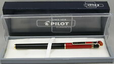 Pilot Juliet Black & Red w/Gold Trim Fountain Pen - Medium Nib - New In Box