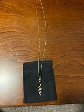 Nora Kogan Thin Snake Necklace 10k Gold New
