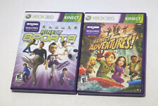 Lot Of 2 Xbox 360 Games: Kinect Sports & Kinect Adventures + Manual (2010)