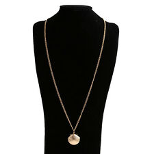 Brass Mermaid Gift Beach Women Clam Sweater Chain Jewelry Necklace Sea Shell