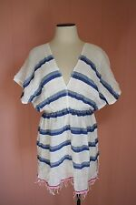 Lemlem Berta Tunic JCrew S Small Beach Cover-Up Cotton Blue Stripe Top
