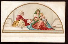 c1909 Sborgi art by Andrea del Sarto Madonna del Sacco Religion postcard