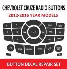 2012-2016 CHEVROLET CRUZE RADIO BUTTON REPAIR DECAL SET