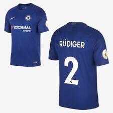 Nike Breathe Chelsea Stadium Jersey RÜDIGER #2 905513-496 Rush Blue Size S New