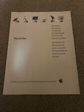 "2002 APPLE iMAC G4 SUPERDRIVE Poster Print Ad Art COMPUTER 15"" FLAT SCREEN"