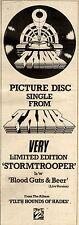 1/5/1982Pg13 Picture Disc Single Advert 15x5 Tank, Stromtrooper