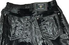 Versace Jeans Couture Black Velour Feel Pants Size 27