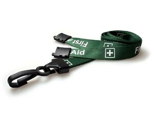 First Aid Lanyard with ID Badge Holder Neck Strap - Fast Free UK Freepost