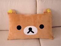 Pillow Case 63*43cm Top Sale Rilakkuma Relax Bear San-X Cute Plush Brown