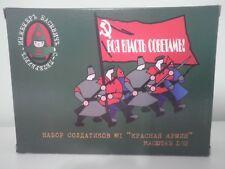 Soldatini ARMATA ROSSA Figurini Russi 1:32 Toy Soldiers Nuovi con Box
