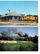 Railway Museum-RR Train-Covered Bridge-Boothbay-Maine-Vintage Postcard Lot of 2