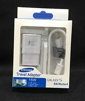 Samsung OEM Fast Adaptive Charger for Galaxy Note 4/5 S6/S7 EDGE & 5FT Cables