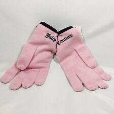 Juicy Couture Pink Wool Gloves with charms
