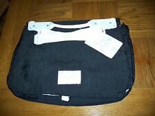 NWT Hug Mees Large expandable Black Diaper Bag Multi Compartments