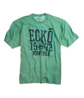 Ecko Unltd. Mens Big Block Radius Graphic T-Shirt, Green, Small