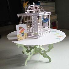 3D Table Birdcage Pop Up Greeting Card Birthday Wedding Handmade Postcard MW