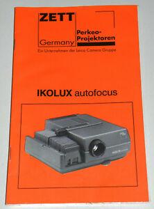 Originale Bedienungsanleitung Zeiss Ikon Ikolux Autofocus manual Leica