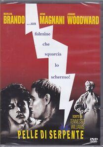 Dvd PELLE DI SERPENTE con Marlon Brando Anna Magnani nuovo 1960