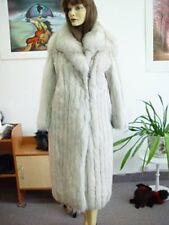 *EXCELLENT PLAIN NORWEGIAN (BLUE) FOX FUR FULL LENGTH COAT WOMEN WOMAN SIZE 4-6