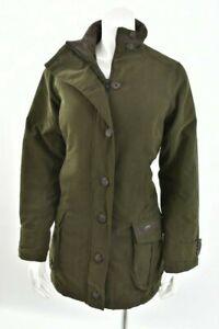 DUBARRY IRELAND GORE-TEX wool PARKA Jacket - olive SIZE L women's