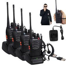 4x ghost hunt Long range Walkie Talkie earpiece 2-Way Radio equipment paranormal