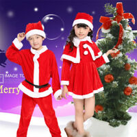 Kids Christmas Party Cosplay Costume Santa Claus Christmas Tree Outfits Dress