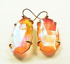 KENDRA SCOTT Esme Rose Gold Plated Dichroic Glass Dangle  Earrings