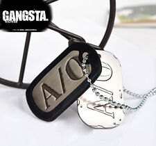 Anime Gangsta Nicolas Brown Twilight A/0 Cosplay Mercenary Dog Tag Necklace