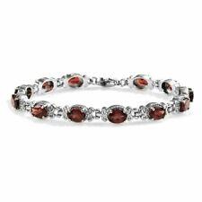 Natural Mozambique Garnet Tennis Bracelet in Stainless Steel (7.25 In) 11.40 ctw